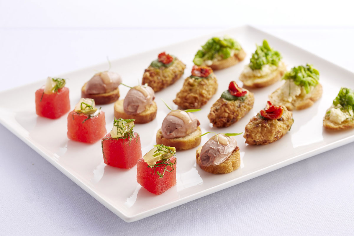 Event catering marriner group marriner group for Canape wedding